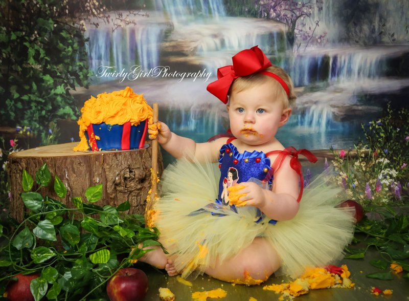 Princess Cake Smash Wiltshire Twirly Girl Photography